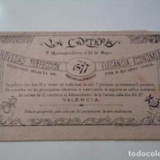 Documentos antiguos: DIBUJOS PARA BORDADOS, LA CARTERA Nº 28. POR RICARDO SORIA, VALENCIA, 1877.. Lote 77863281