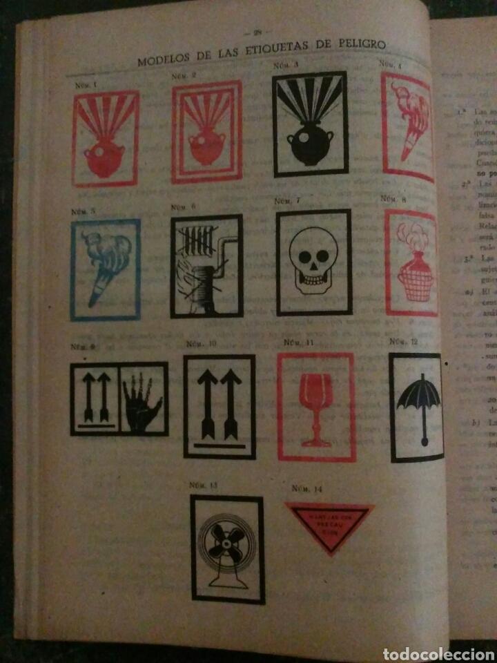 Documentos antiguos: RENFE año 1943 Transporte de materias peligrosas y sus Embalajes - Foto 3 - 78178365