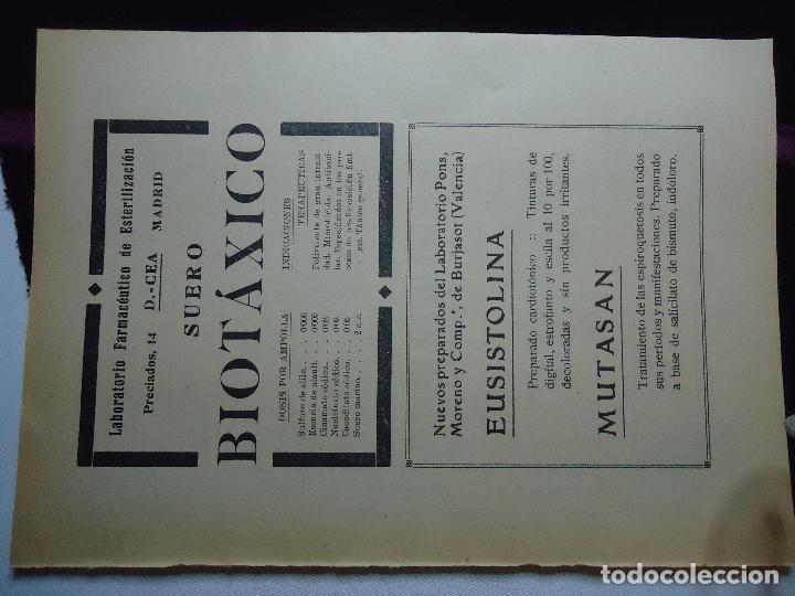 Documentos antiguos: GRAN COLECCION PUBLICIDAD ANUNCIOS PUBLICITARIOS AÑOS 30 FARMACIA MEDICINA FARMACIA MEDICAMENTOS - Foto 27 - 82491196