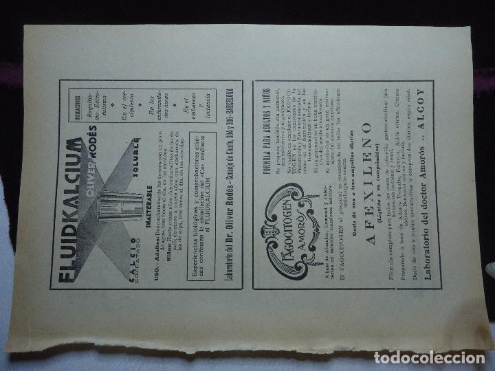 Documentos antiguos: GRAN COLECCION PUBLICIDAD ANUNCIOS PUBLICITARIOS AÑOS 30 FARMACIA MEDICINA FARMACIA MEDICAMENTOS - Foto 29 - 82491196