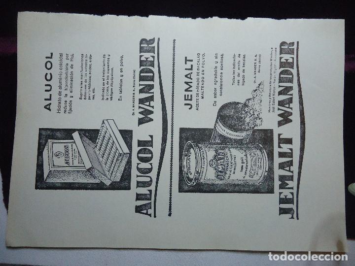 Documentos antiguos: GRAN COLECCION PUBLICIDAD ANUNCIOS PUBLICITARIOS AÑOS 30 FARMACIA MEDICINA FARMACIA MEDICAMENTOS - Foto 35 - 82491196