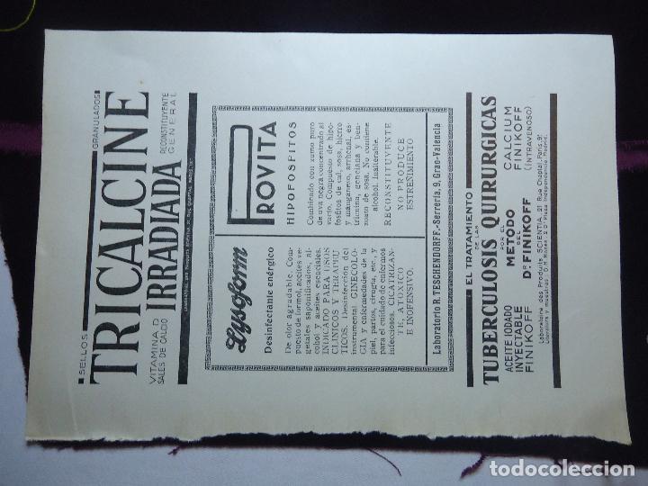 Documentos antiguos: GRAN COLECCION PUBLICIDAD ANUNCIOS PUBLICITARIOS AÑOS 30 FARMACIA MEDICINA FARMACIA MEDICAMENTOS - Foto 36 - 82491196