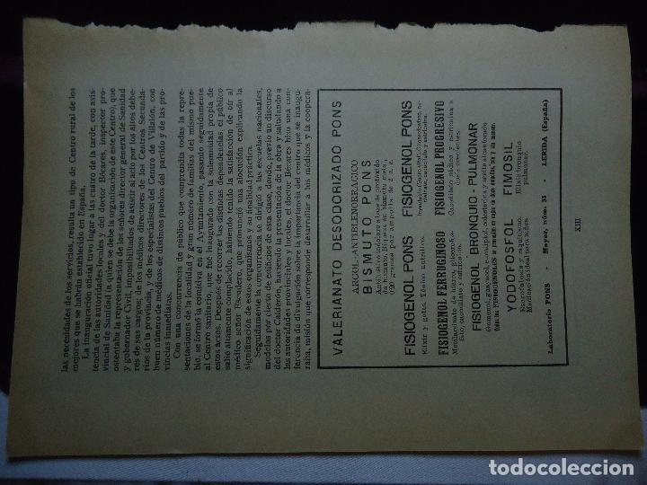 Documentos antiguos: GRAN COLECCION PUBLICIDAD ANUNCIOS PUBLICITARIOS AÑOS 30 FARMACIA MEDICINA FARMACIA MEDICAMENTOS - Foto 42 - 82491196