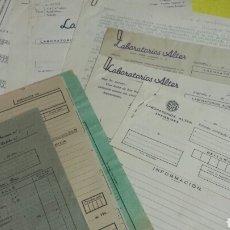 Documentos antiguos: COMPLETO DOSIER LABORATORIOS ALTER FARMACEUTICA MEDICAMENTOS AÑO 1940. VER DESCRIPCIÓN DEL LOTE. Lote 78451045
