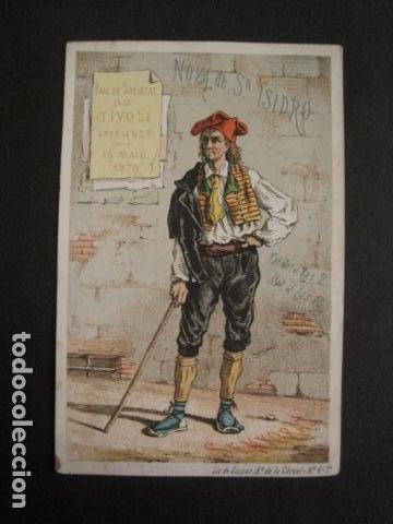 INVITACION BAILE SIGLO XIX - NOVA SAN ISIDRO -AÑO 1876- GRACIA -VER FOTOS-(V-9537) (Coleccionismo - Documentos - Otros documentos)