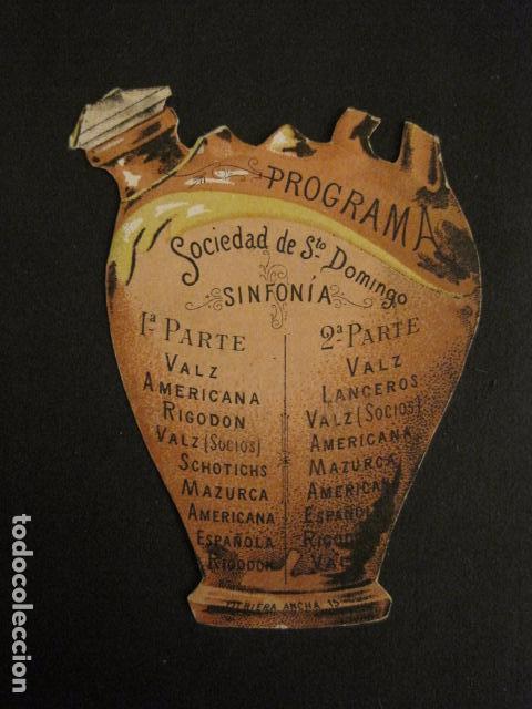 INVITACION BAILE SIGLO XIX - TROQUELADO - SOCIEDAD SANTO DOMINGO -VER FOTOS-(V-9540) (Coleccionismo - Documentos - Otros documentos)