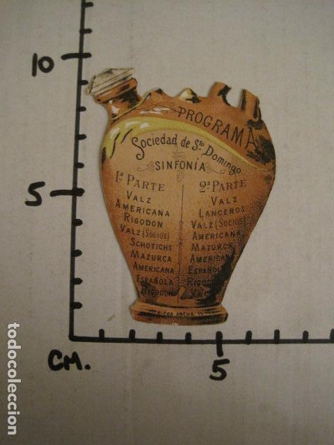 Documentos antiguos: INVITACION BAILE SIGLO XIX - TROQUELADO - SOCIEDAD SANTO DOMINGO -VER FOTOS-(V-9540) - Foto 2 - 78898549