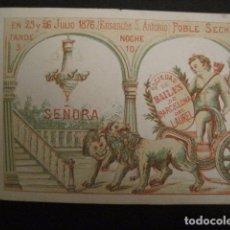 Documentos antiguos: INVITACION BAILE SIGLO XIX - POBLE SECH - SOCIEDAD DEL LAUREL -VER FOTOS-(V-9541). Lote 78898857
