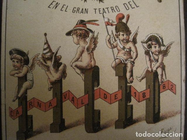 Documentos antiguos: INVITACION BAILE SIGLO XIX - SOCIEDAD GRAN TEATRO DEL LICEO-AÑO 1882 -VER FOTOS-(V-9542) - Foto 2 - 78899401