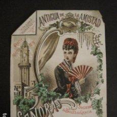 Documentos antiguos: INVITACION BAILE SIGLO XIX -GRACIA -SOCIEDAD ANTIGUA DE LA AMISTAD -AÑO 1876 -VER FOTOS-(V-9554). Lote 78903641