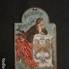 Documentos antiguos: INVITACION BAILE SIGLO XIX -TROQUELADO- SOCIEDAD LA BRUJA TEATRO OLIMPO -VER FOTOS-(V-9571). Lote 78908809