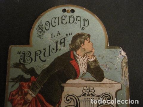 Documentos antiguos: INVITACION BAILE SIGLO XIX -TROQUELADO- SOCIEDAD LA BRUJA TEATRO OLIMPO -VER FOTOS-(V-9571) - Foto 3 - 78908809