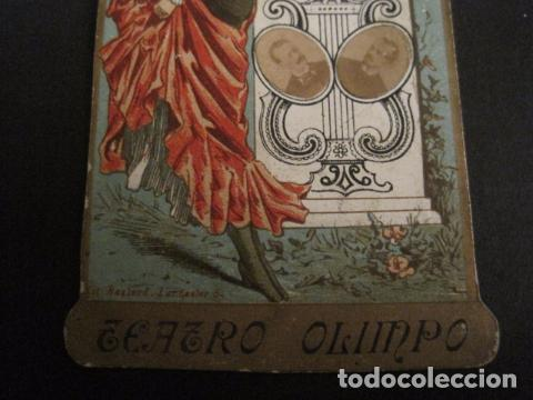 Documentos antiguos: INVITACION BAILE SIGLO XIX -TROQUELADO- SOCIEDAD LA BRUJA TEATRO OLIMPO -VER FOTOS-(V-9571) - Foto 4 - 78908809