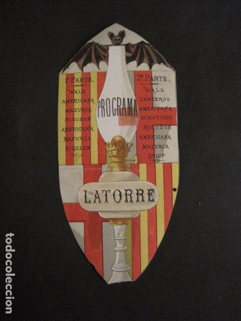 INVITACION BAILE SIGLO XIX -TROQUELADO- LATORRE -VER FOTOS-(V-9572) (Coleccionismo - Documentos - Otros documentos)