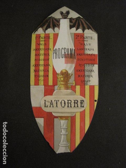 Documentos antiguos: INVITACION BAILE SIGLO XIX -TROQUELADO- LATORRE -VER FOTOS-(V-9572) - Foto 2 - 78925601