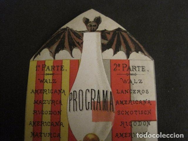 Documentos antiguos: INVITACION BAILE SIGLO XIX -TROQUELADO- LATORRE -VER FOTOS-(V-9572) - Foto 3 - 78925601