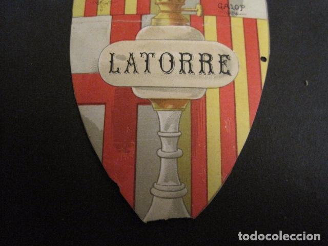 Documentos antiguos: INVITACION BAILE SIGLO XIX -TROQUELADO- LATORRE -VER FOTOS-(V-9572) - Foto 4 - 78925601