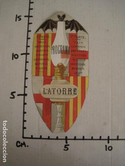 Documentos antiguos: INVITACION BAILE SIGLO XIX -TROQUELADO- LATORRE -VER FOTOS-(V-9572) - Foto 6 - 78925601
