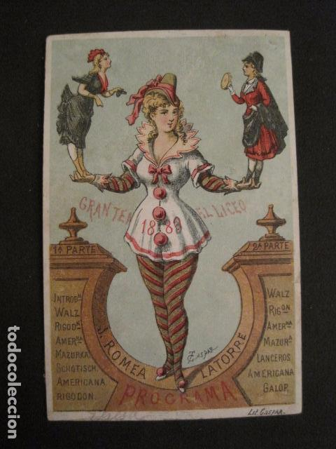 Documentos antiguos: INVITACION BAILE SIGLO XIX - LICEO - LATORRE - AÑO 1880- -VER FOTOS-(V-9573) - Foto 2 - 78927465