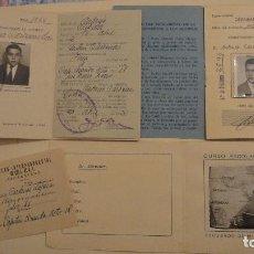 Documentos antiguos: CONJUNTO DE 3 DOCUMENTOS.ESCUELA PERICIAL.CARNET ESCOLAR.ANTONIO CARDENAS LOPEZ.JAEN.AÑOS 50. Lote 78941341