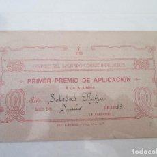 Documentos antiguos: EL PUERTO DE SANTA MARIA * COLEGIO DEL SAGRADO CORAZON DE JESUS * 1919. Lote 79588549