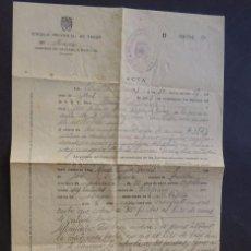 Documentos antiguos: CURIOSO DOCUMENTO / INSPECCION POR VENTA DE CARNE / FISCALIA PROVINCIAL DE TASAS / HESCA 1949. Lote 80186645