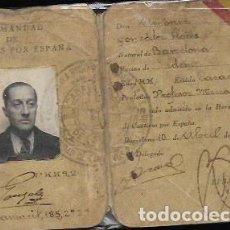Documentos antiguos: CARNET * HERMANDAD DE CAUTIVOS DE ESPAÑA * CABALLEROS DE ESPAÑA 1940. Lote 80390925