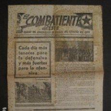 Documentos antiguos: EL COMBATIENTE DEL ESTE -COMISARIADO DE GUERRA EJERCITO ESTE -1938-GUERRA CIVIL- VER FOTOS-(V-9986). Lote 80645726