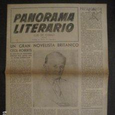 Documentos antiguos: PANORAMA LITERARIO - BARCELONA - LUIS DE CARALT - VER FOTOS-(V-9990). Lote 80647942