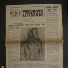 Documentos antiguos: PANORAMA LITERARIO - BARCELONA - LUIS DE CARALT - VER FOTOS-(V-9991). Lote 80648022