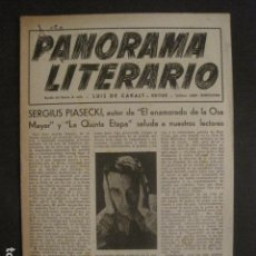 Documentos antiguos: PANORAMA LITERARIO - BARCELONA - LUIS DE CARALT - VER FOTOS-(V-9992). Lote 80648470