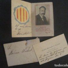Documentos antiguos: DOCUMENTS FIRMA AUTOGRAFA LLUIS MILLET - AGOST 1926 -VER FOTOS-(V-10.050). Lote 80758162