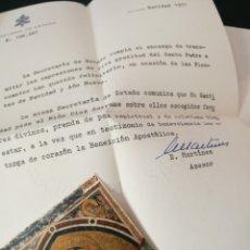 Documentos antiguos: CARTA Y ESTAMPA CON ORACION DE NAVIDAD 1971 DEL PAPA PABLO VI Y LA SECRETARÍA DEL ESTADO. Lote 80811148