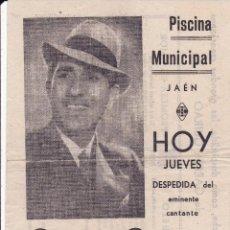 Documentos antiguos: GARCÍA GUIRAO MURCIA CONCIERTO DESPEDIDA EN JAÉN . Lote 80861427