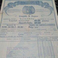 Documentos antiguos: PÓLIZA DE SEGUROS RAMO ENTERRAMIENTOS LA DOLOROSA 1954 . Lote 81024478