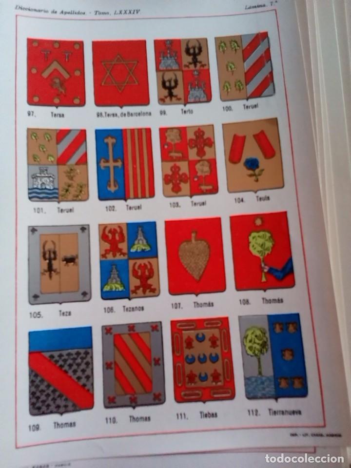 Documentos antiguos: HERALDICA-ESCUDO APELLIDOS-COLOR-30 LAMINAS DISTINTAS-SOLAR VASCO NAVARRO-SILVA-OREA-ALBA-RON-OLMEDO - Foto 14 - 81031124