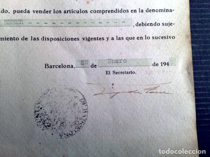 Documentos antiguos: LICENCIA APERTURA ESTABLECIMIENTO DE HOSTELERIA ( EXPEDIDO1949) AYUNTAMIENTO DE BARCELONA (DESCRIPCI - Foto 5 - 81185816