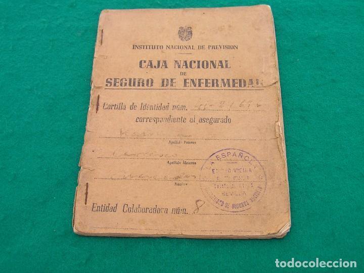 CARTILLA DEL INSTITUTO NACIONAL DE PREVISIÓN. CAJA NACIONAL DEL SEGURO DE ENFERMEDAD. AÑO 1948. (Coleccionismo - Documentos - Otros documentos)