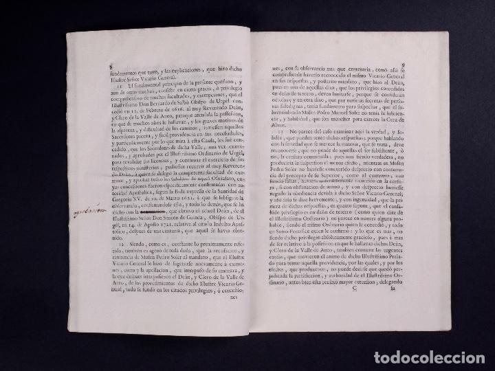 Documentos antiguos: JURÍDICA ALEGACIÓN PARA LA NULIDAD DE LA CENSURA R.PEDRO MANUEL SOLER, TARRAGONA 1749 - Foto 3 - 81343488