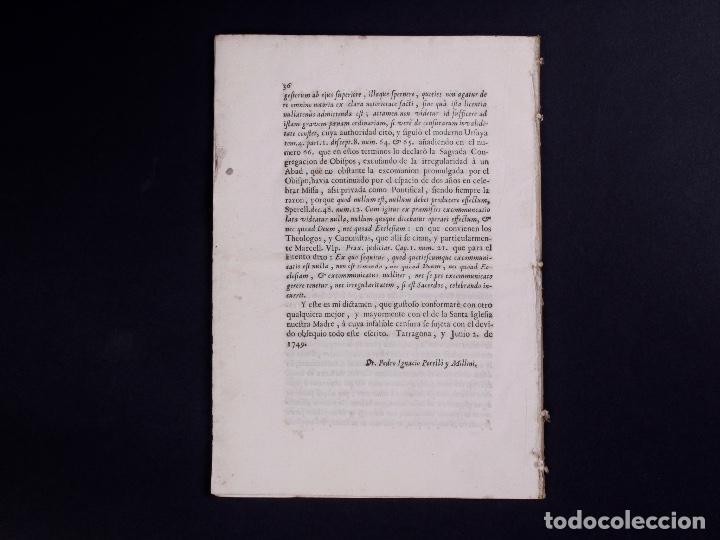Documentos antiguos: JURÍDICA ALEGACIÓN PARA LA NULIDAD DE LA CENSURA R.PEDRO MANUEL SOLER, TARRAGONA 1749 - Foto 5 - 81343488