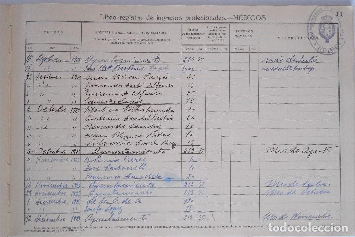 Documentos antiguos: MONOVAR (ALICANTE) LIBRO-REGISTRO DE INGRESOS PROFESIONALES - MÉDICOS - DE 1923 A 1958 - Foto 4 - 81701816