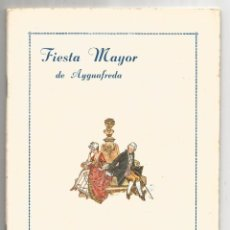 Documentos antiguos: AIGUAFREDA .- PROGRAMA FIESTA MAYOR 1951. Lote 83510322