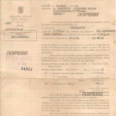 Documentos antiguos: CONCESIÓN PENSIÓN DE JUBILACIÓN, MUTUALIDAD LABORAL SIDEROMETALÚRGICA, BILBAO, 1962. Lote 82296404
