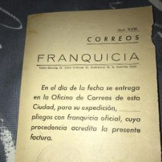 Documentos antiguos: ANTIGUA HOJA CORREOS EXPEDICIÓN PLIEGOS CON SELLO GUARDIA CIVIL. Lote 82988992