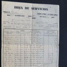 Documentos antiguos: HOJA DE SERVICIOS / MAESTRO DE ESCUELAS PUBLICAS ( 1916 - 1940 ) HUESCA. Lote 83014904