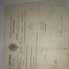 Documentos antiguos: CONTRIBUCIÓN TERRITORIAL RIQUEZA RÚSTICA 1927 ONIL. Lote 83300172
