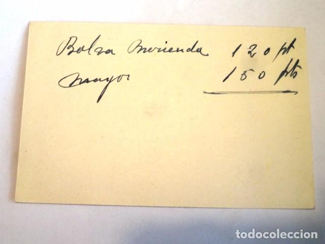 Documentos antiguos: TARJETA COMERCIAL O VISITA PUBLICIDAD CASA LANZAROTE (ARTICULOS VIAJE,CAJAS MUESTRARIOS..) ZARAGOZA - Foto 2 - 83663316
