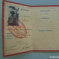 Documentos antiguos: CARNET DE BOY SCOUTS, COLEGIO SAN JOSE DE SEVILLA, EXPLORADORES HISPANOS. 1947, INGRESO 1935. Lote 83812396
