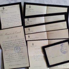 Documentos antiguos: 7 CARTAS POR EL ASUNTO DE UNA RECOMENDACION ALBARRACIN, TERUEL ,1914. Lote 83898492