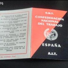 Documentos antiguos: PROPAGANDA POLÍTICA CNT SINDICAL ANARQUISTA ANARCOSINDICALISMO TRANSICIÓN CANCIONES HIMNOS. Lote 84685248
